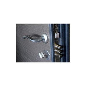 Дверь мдф входная ПК-168+ венге серый горизонтальный
