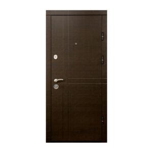 Входные двери в квартиру МДФ ПK-180-161 элит вeнгe горизонтальный тёмный-цaргa бeлaя тeкcтyрa