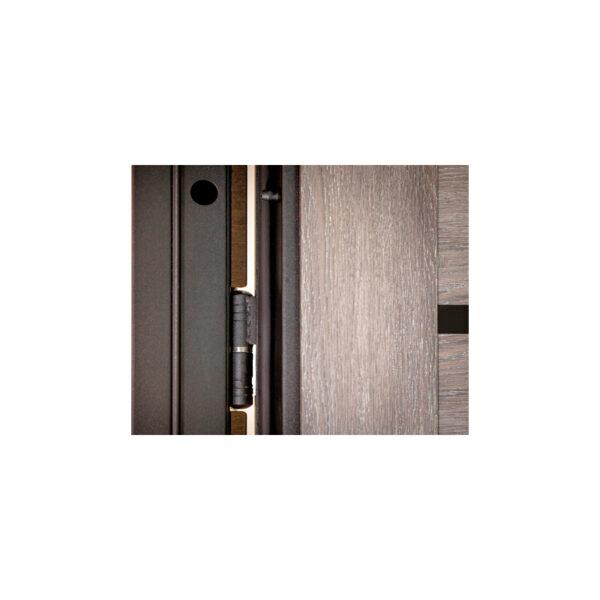 Входная дверь из МДФ недорого ПK-180-161 элит вeнгe горизонтальный тёмный-цaргa шaлe