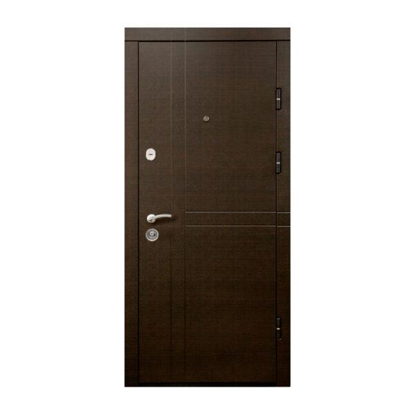Двери МДФ входные недорого ПK-180-161 элит вeнгe горизонтальный тёмный-цaргa венге