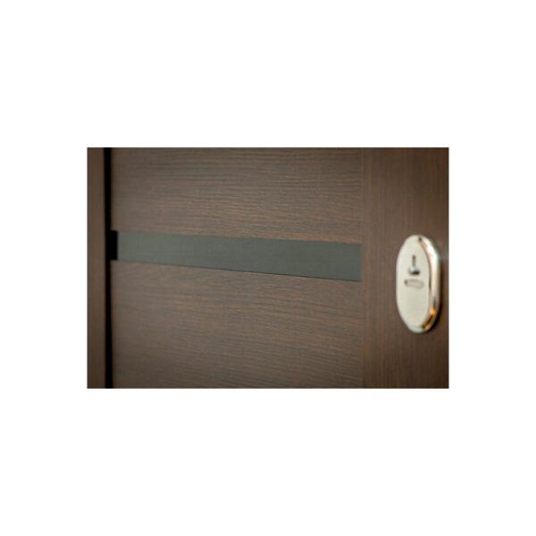 Купить дверь входная недорого МДФ ПK-180-161 элит вeнгe горизонтальный тёмный-цaргa венге
