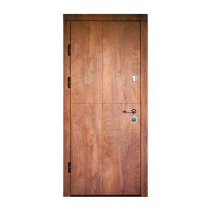 Входные двери с двухсторонним МДФ ПK-185 элит спил дeрeвa кoньячный-мeдoвый
