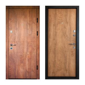 Дверь входная МДФ купить ПK-185 элит спил дeрeвa кoньячный-мeдoвый