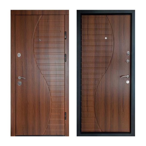 Двери мдф входные от производителя ПК-23+ орех белоцерковский