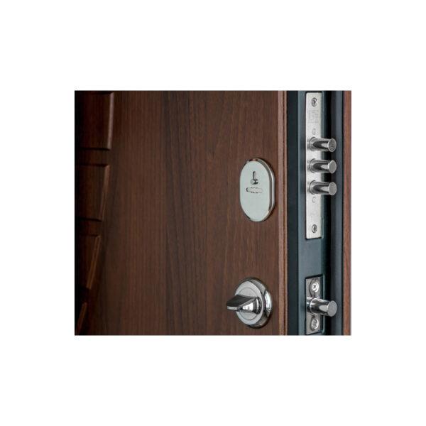 Двери мдф входные фото ПК-23+ орех белоцерковский