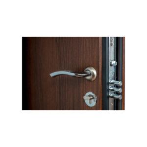 Двери мдф входные это ПК-23+ орех белоцерковский