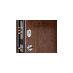 Двери входные с МДФ панелями ПK-29+ V дуб тёмный