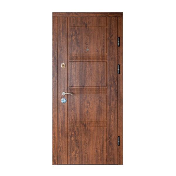 Двери из МДФ входные уличные ПK-29+ V дуб тёмный