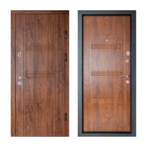 МДФ дверь входная ПK-29+ V дуб тёмный