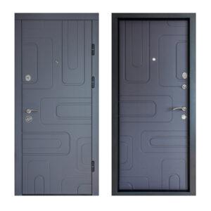 МДФ двери входные рисунок ПK-52+ софт грей