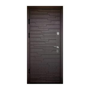 Дверь входная вставляем мдф ПK-66+ венге горизонтальный тёмный
