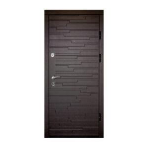 Дверь входная мдф ПK-66+ венге горизонтальный тёмный