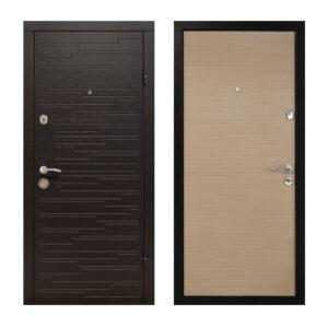 Купить входные двери Харьков цена ПО-66 венге горизонтальный тёмный-венге горизонтальный светлый