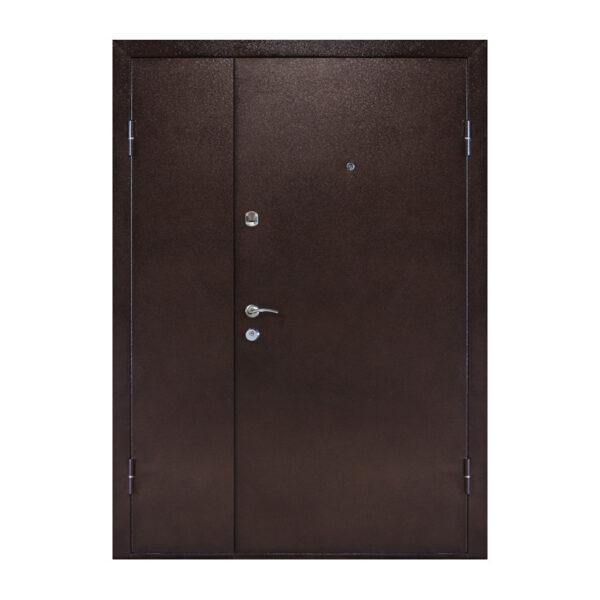 Двери входные с мдф ПУ-01 орех коньячный
