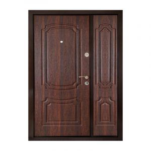 Двери входные с мдф накладкой ПУ-01 орех коньячный