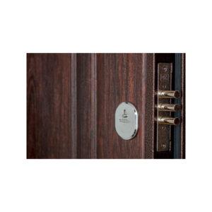Двери входные с покрытием мдф ПУ-01 орех коньячный