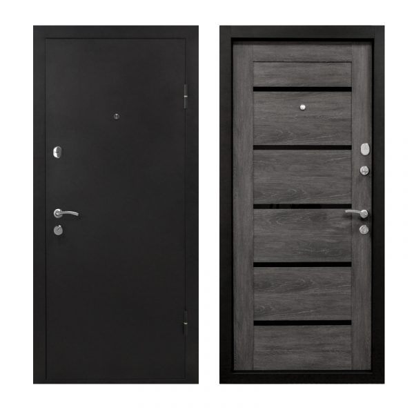 Двері вхідні метал та МДФ ПУ-161 царга шале
