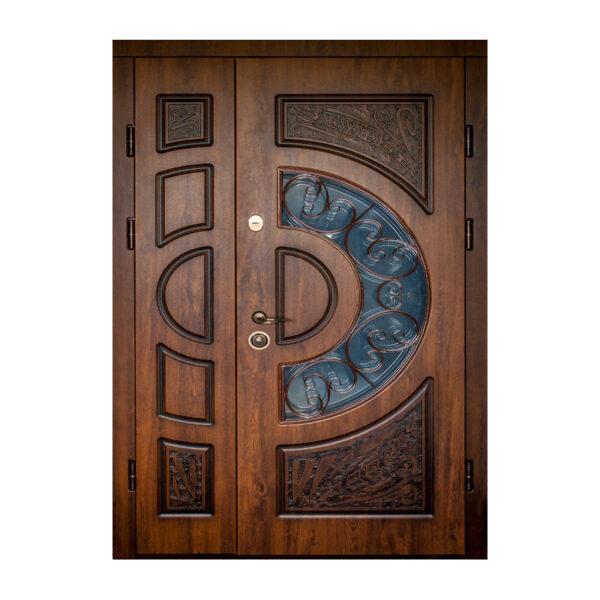 Двери металлические входные цены с МДФ ПB-191 V дyб тёмный