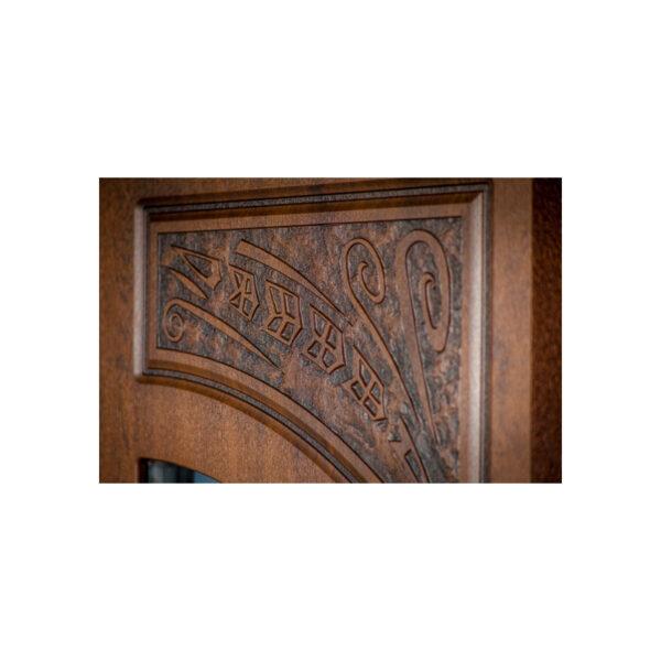 Входная металлическая дверь МДФ фото ПB-191 V дyб тёмный