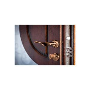 Внутренняя отделка МДФ входной металлической двери ПB-191 V дyб тёмный