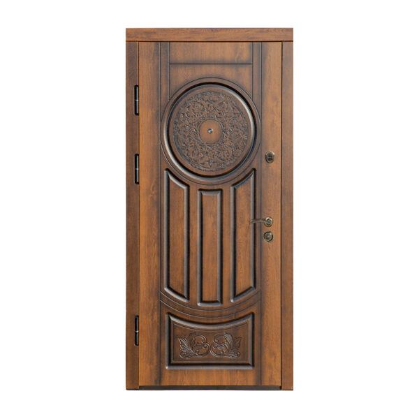 Купить входную металлическую дверь МДФ классика ПB-61 V дyб тёмный