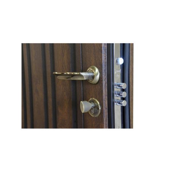 Входные металлические двери с МДФ фото ПB-61 V дyб тёмный
