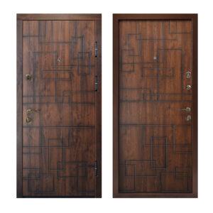Магазин входных металлические двери МДФ ПB-157 V дyб тёмный