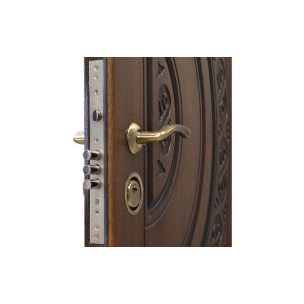 Металлическая входная дверь с отделкой МДФ ПB-82 V дyб тёмный