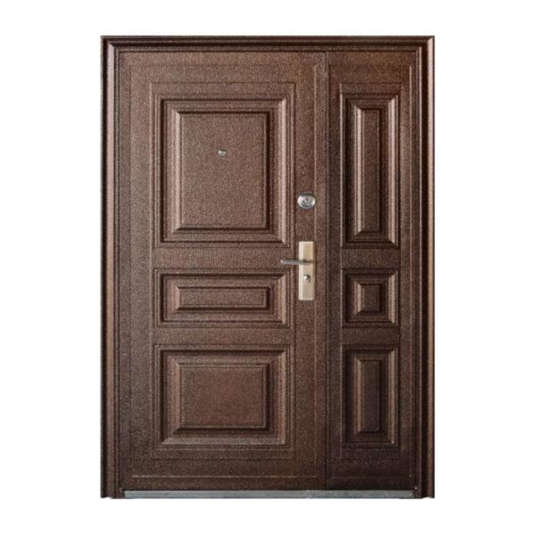 Двері вхідні подвійні металеві TP-C-68 коричневый