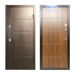 Дверь входная частный дом Турин коричневый-орех