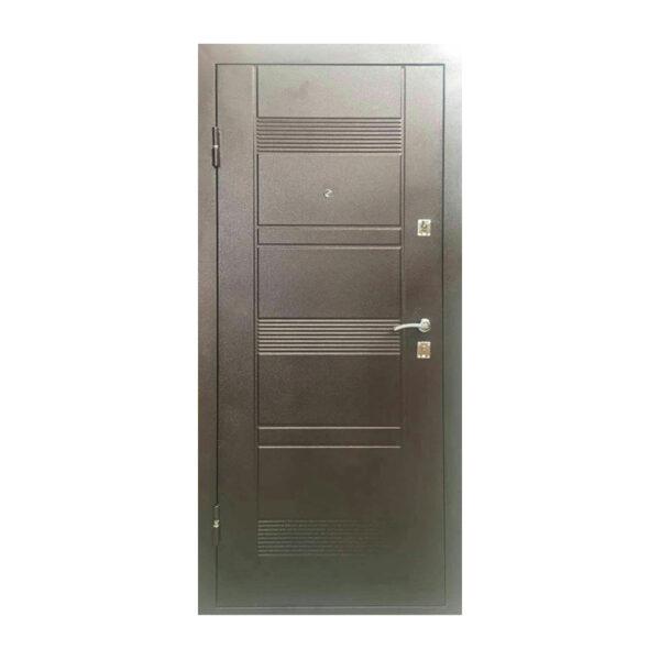 Входные двери металлические УД-142 коричневый-орех