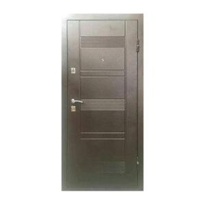 Двери входные железные УД-142 коричневый-орех
