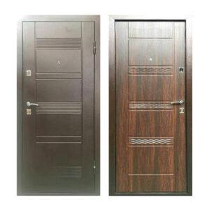 Двери входные металлические недорого УД-142 коричневый-орех
