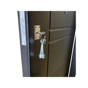 Двери входные на дачу недорого УД-142 коричневый-орех