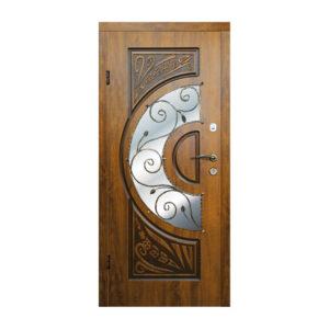 Входные двери с зеркалом цена 223 №4 дуб золотой