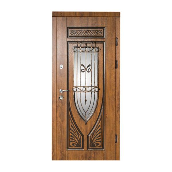 Двери входные с окном 228 №10 дуб золотой