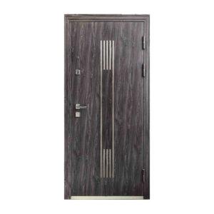 Двери входные под заказ M-808 светло-серый-венге светлый