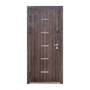 Двери входные металлические купить M-810 светло-серый/орех