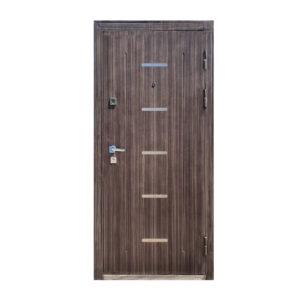 Дверь входная 110 M-810 светло-серый/орех