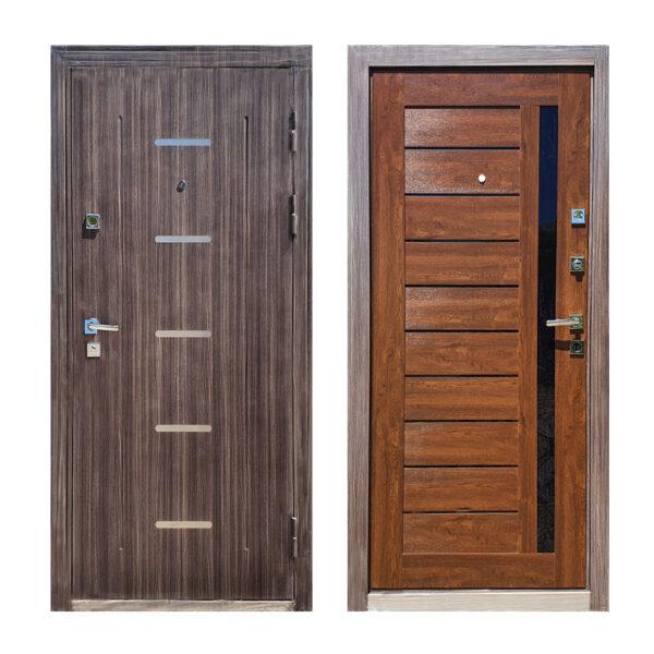 Дверь входная 1100 M-810 светло-серый/орех