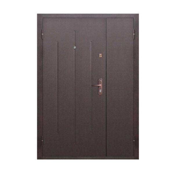 2 входные двери на одной коробке ПС-70-М2 коричневый/орех