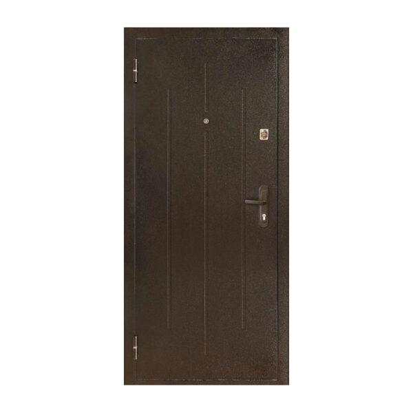 Входные двери для гаража ПС-70-М2 коричневый/орех миланский
