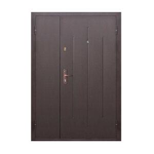 Вхідні двері двохполовинкові епіцентр ПС-70-М2 коричневый/орех