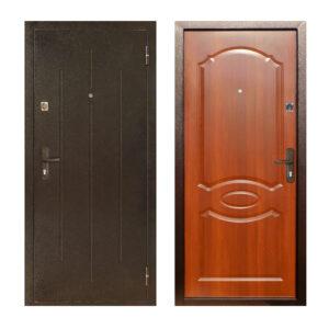 Двери входные металлические дешево ПС-70-М2 коричневый/орех