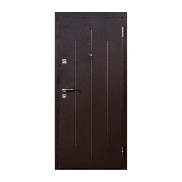 Вхідні двері в будинок Луцьк Стройгост 7-2 коричневый-орех миланский