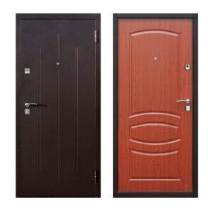 Входные двери страж Николаев Стройгост 7-2 коричневый-орех миланский