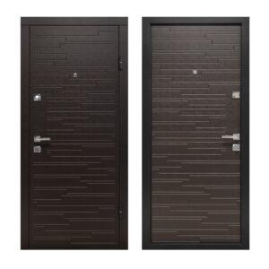 Двери входные в дом купить ПO-66 Q венге горизонтальный тёмный