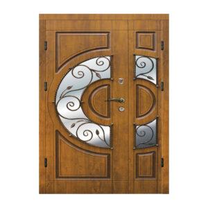Входные двери термопласт 304 №2 дуб золотой