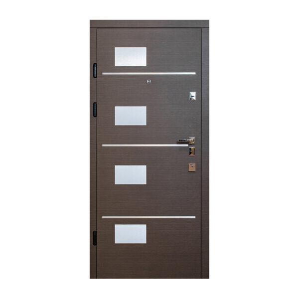 Входные двери ширина 80 см 505 венге горизонт серый